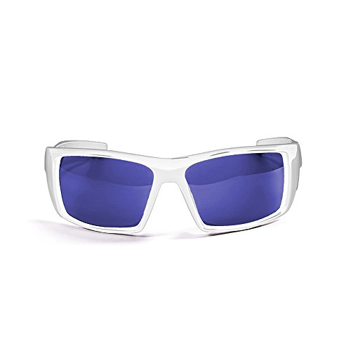 OCEAN SUNGLASSES - Aruba - lunettes de soleil polarisÃBlackrolles  - Monture : Blanc LaquÃBlackroll - Verres : Revo Bleu (3201.2)