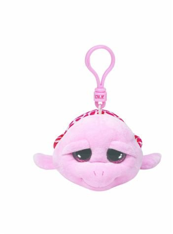 Carletto Ty 36590 - Shellby Clip Schildkröte mit Glitzeraugen Glubschi's Beanie Boo's, 8.5 cm, pink