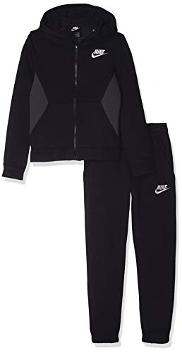 Nike Jungen B NSW BF CORE Tracksuit, Black/Anthracite/White, XL -