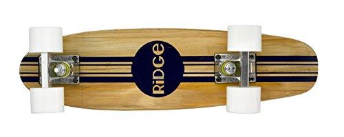 Ridge Skateboards Maple Mini Cruiser Original Skateboard, Bianco