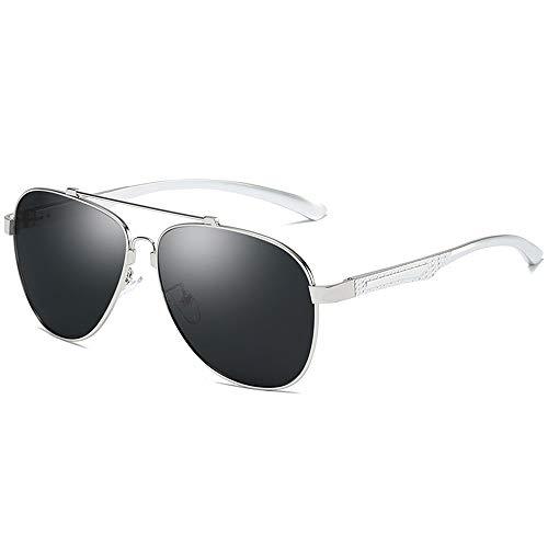 Yiph-Sunglass Sonnenbrillen Mode Männer Frauen Mode Farbe blau Film Outdoor Fahren Sonnenbrille al-mg Legierung Rahmen polarisierte Sonnenbrille für (Color : Weiß, Size : Kostenlos)