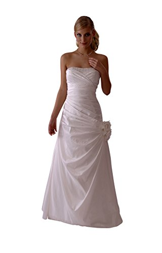 Brautkleid / Hochzeitskleid /Nina/ Satin 38 creme