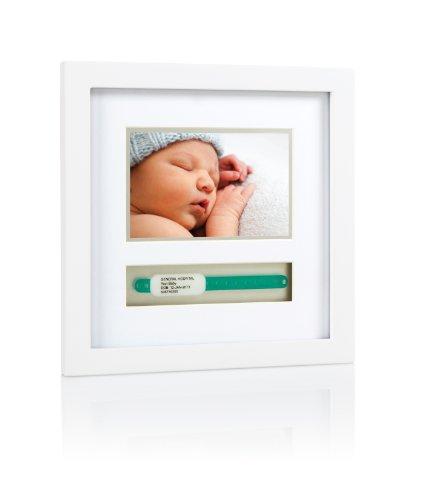 Pearhead P63012 I.D. Bracelet Frame Deluxe, Bilderrahmen zur Aufbewahrung des Geburtsarmbands, weiß