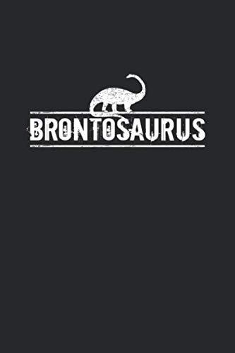 Brontosaurus: Tagebuch, Notizbuch, Notizheft | Geschenk-Idee für Dinosaurier Fans | Blanko | A5 | 120 Seiten