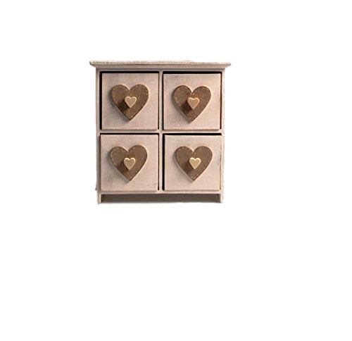 Cœur blanc Boîte à bijoux