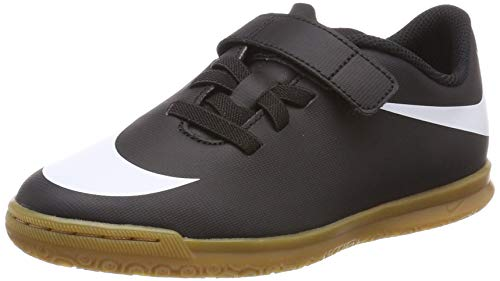 Nike Unisex-Kinder Jr Bravatax Ii (V) Ic Fußballschuhe, Schwarz (Black/White/Black 001), 35 EU