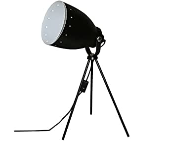 lampe tr pied noire style projecteur de cin ma studio photo luminaires et eclairage. Black Bedroom Furniture Sets. Home Design Ideas