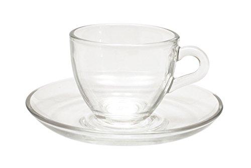 Maxwell Williams 90 ml & aus Glas Espresso-Tasse und Untertasse, 6-teiliges Set