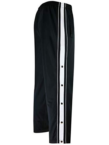T-MODE Herren Sporthose mit Knopfleiste K-Größen-Schwarz-2XL