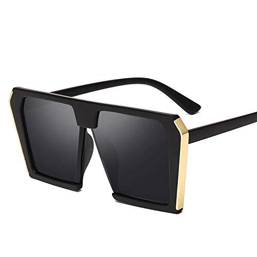 Vintage große quadratische Sonnenbrille Frauen Maxi-Luxusmarke 90s Fashion Cateye Sonnenbrillen Weibliche Lady Schatten, 4
