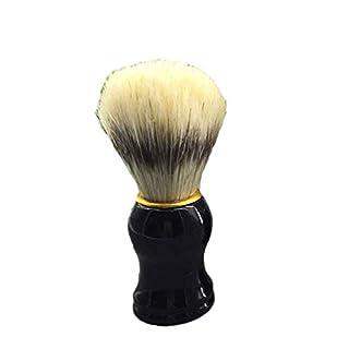 F-blue Herrenhaar Rasierpinsel Friseur Salon Männer Gesicht Bart Reinigungsgerät Shave Werkzeug Razor Pinsel Holzgriff