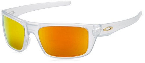 OAKLEY Herren Sonnenbrille Drop Point 936705, Weiß (Matte Clear/Fireiridium), 61