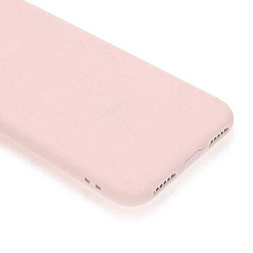 iPhone 8 / 7 Hülle Herz Handyhülle von NICA, Silikon Case Schutz Gummihülle, Soft Slim Cover Etui Dünne Handy-Tasche, Ultra-Slim Phone Back-Cover Skin Bumper für Apple iPhone-7 / 8, Farbe:Rosa Rosa