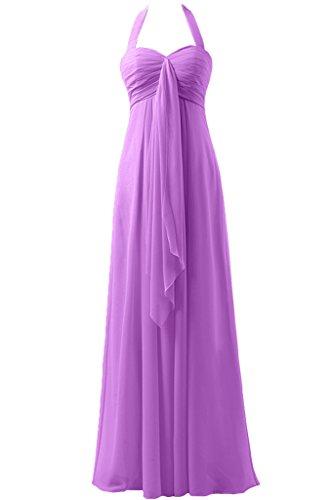 Sunvary a-line garza Empire della vita Halter d'onore abito da sera, da donna Light Purple