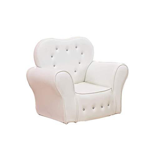 SEEKSUNG Kinder Sofa Leder-Baby Mini Sessel, Sofa Einzelsitz, Komfortabler Sitz, groß für Jungen und Mädchen 1-8 Jahre alt, 59 × 41 × 49cm-Weiß