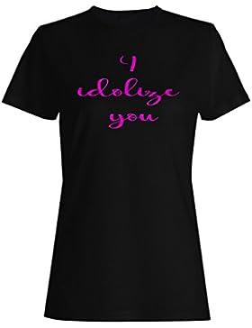 Te adoro la novedad divertida camiseta de las mujeres f140f