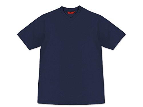 Preisvergleich Produktbild Tony Brown V-Neck Basic Herren T-Shirt Uni Farben ohne Seitennaht (3XL,  Navy)