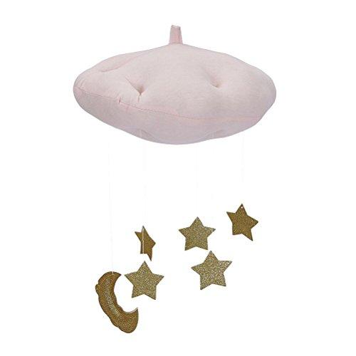 BESTOYARD Cloud Star Hängende Verzierung DIY Anhänger für Baby-Dusche-Kinderraum-Dekoration (Rosa Wolken und Gloden Stars)