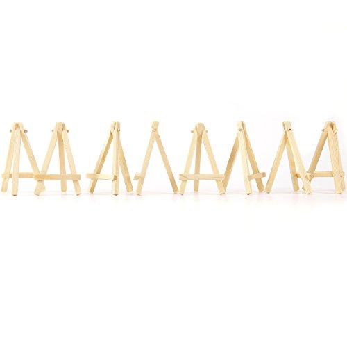 10x mini chevalet trépied en bois 12 x 7cm support photo carte-nom étiquette