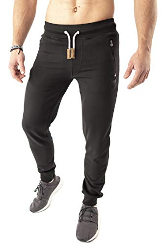 Mount Swiss Herren MS Hose, Finn, Black, Gr. L/Lange Hose/Jogginghose/Sweatpants
