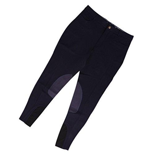 Baoblaze Vollbesatzhose Freizeit Outdoor Hosen Reiten Hosen für Damen - Marine, 36,6 Zoll