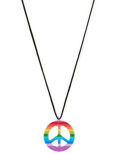 Collar hippie multicolor adulto - Única