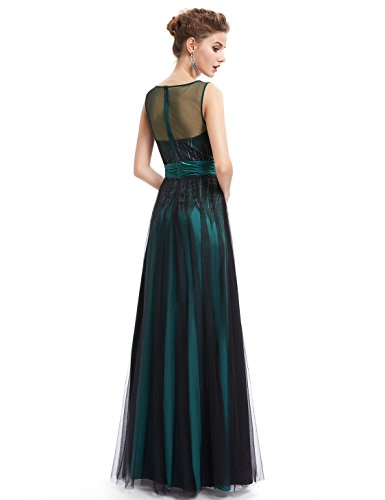 Ever Pretty Robe de Cocktail Robe de Soiree Maxi Maille Elegante 08740 Vert