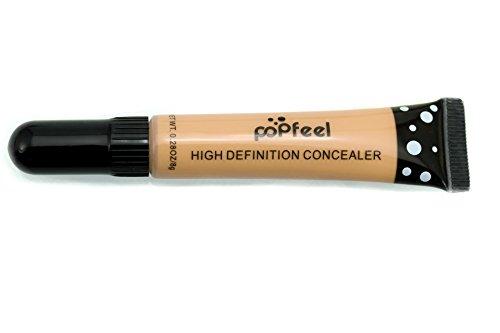 Lover Bar 4pcs Pro Concealer Kit-Professional Makeup 3 Colours Liquid Foundation Cream Contour Set+Face Powder Highlighter Make Up Blush Brush-Beauty Cosmetics Blemish Camouflage Full Coverage Corrector