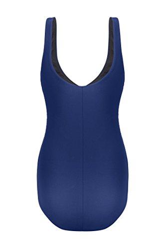 Bellybutton Mae-Badeanzug, Maillot de Bain de Maternité Femme Blau (patriot 3118)