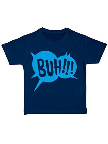 clothinx Kinder T-Shirt Bio Halloween Buh Navy/Blau Größe 92