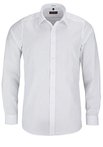 MARVELIS Body Fit Hemd extra langer Arm Popeline weiß AL 69, Weiß, 42 - Herren-langer Arm