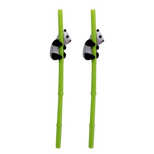NOKI–Pajitas de Panda, Multi, 3x 10x 26cm