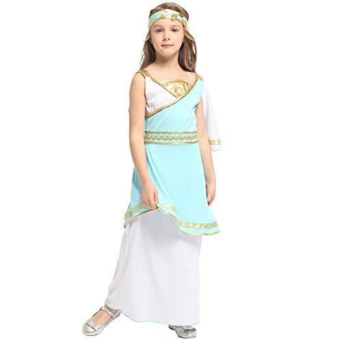 LOLANTA Kind Halloween Griechische Göttin Athene Dress Up Girl Römisches Kostüm befestigen Kopfbedeckung (5-6 Jahre) (Griechischen Dress Up Kostüme)