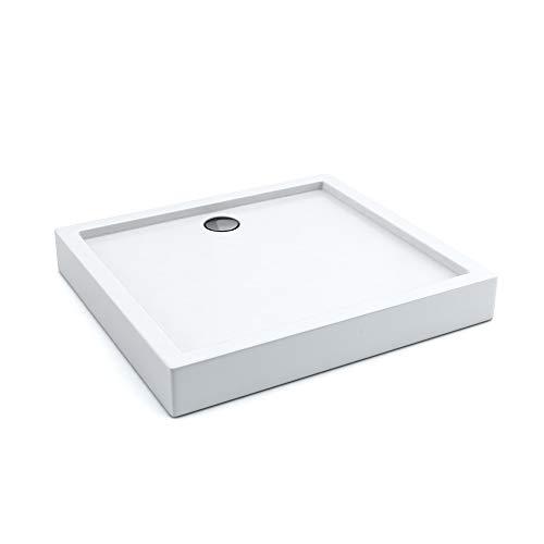 Rechteckige Keramik-fliese (AQUABAD® Duschwanne Comfort Ultima 80x100cm Rechteckig)