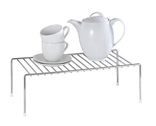 WENKO 2342100 Estante de cocina para vajilla, Metal cromado, 42.5 x 15 x 22 cm, Plata brillante