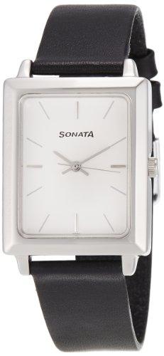 31KsHy0leqL - Sonata NF7078SL03 Classic Silver Mens watch