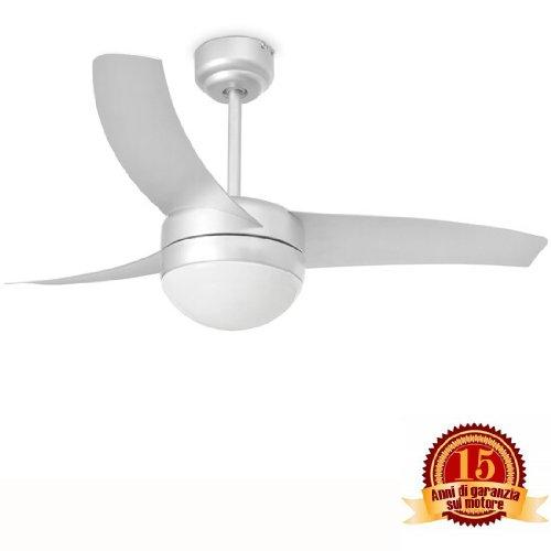 Faro 33416 - easy ventilatore da soffitto grigio