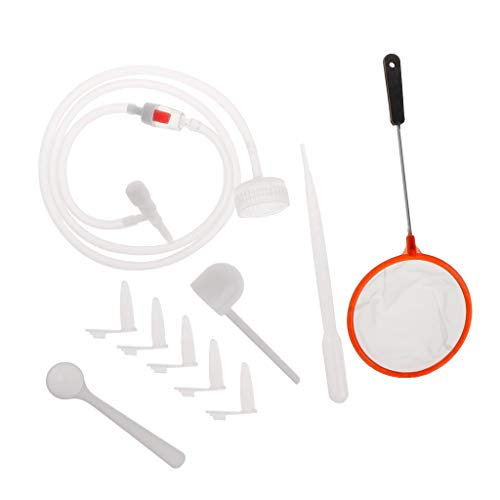 Watermk 1 Satz Brine Shrimp Inkubator DIY Schraffur Werkzeuge Aquarium Inkubieren System Kappe Ventil Scoop Net Schlauch Kit Professionelle Einfache - Net Kit Aquarium