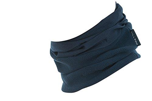 Hilltop Polar Multifunktionstuch mit Fleece, Motorrad Halstuch / Schlauchschal / Ski Gesichtsmaske / TOP Farben, Farbe Polar Tuch:dunkel blau uni