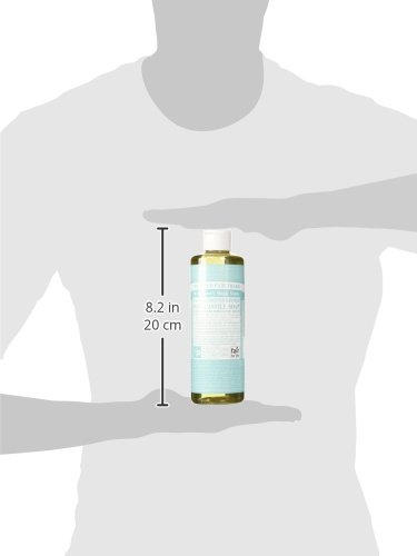 Dr. Bronners 18-in-1 Hemp Un-Scented Baby Mild Pure-Castile Liquid Soap, 16-Ounce Bottle (japan import)