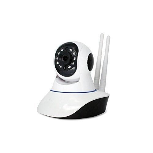 [Doble Antena] HD 720P 1,0 Megapixels P2P IP WiFi Cámara Video Vigilancia IR Nocturna de 1.0Mp y detección de movimientos. MarvTek con Micrófono y altavoz. Resolución HD (1280 * 720P) Con Rotación Horizontal de 355º y Vertical de 120º.