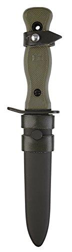 BW Kampfmesser mit Metallscheide und Lederaufhängung Oliv 265 cm