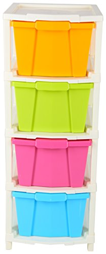 Joyful Plastic Modular 4 Drawer Set (63 cm x 33 cm x 23 cm)