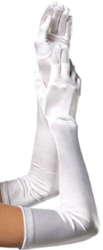 Leg Avenue plus size Damen Satin Handschuhe weiß one size extra ()