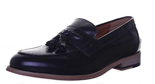 Reece Justin-dérapant à franges style Loafer Taille 6 à 12 Noir - Black WE1