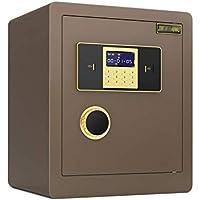 WANZIJING Caja de Seguridad, Todo de Acero Caja de Seguridad Caja de Seguridad a Prueba de Fuego Digital Grande a Prueba de Fuego con Teclado para Proteger el gabinete de Dinero,Café