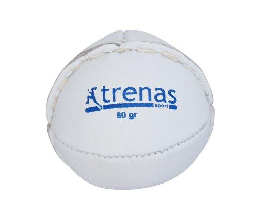 trenas Schlagball aus Leder - 80 Gramm - weiß - Für Wettkampf und Training