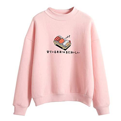 r Hoodies Candy Farbe Cartoon Kawaii Sushi Japanischen Druck Sweatshirt Verdicken Fleece Harajuku Pullover Lose Trainingsanzug 8 Farben ()