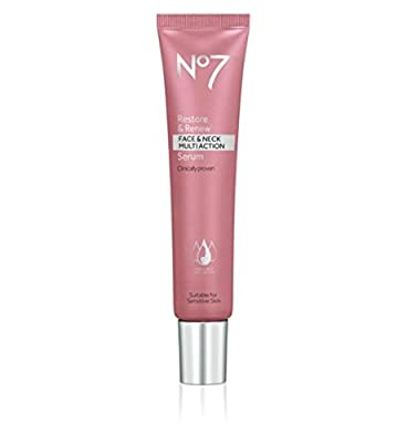 No7 Restore & Renew Face & Neck MULTI ACTION Serum 30ml from Boots