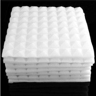 Hitommy 50x 50x 5.5cm quadrato isolamento riduzione del rumore schiuma spugna in cotone, Infradito colorati estivi, con finte perline